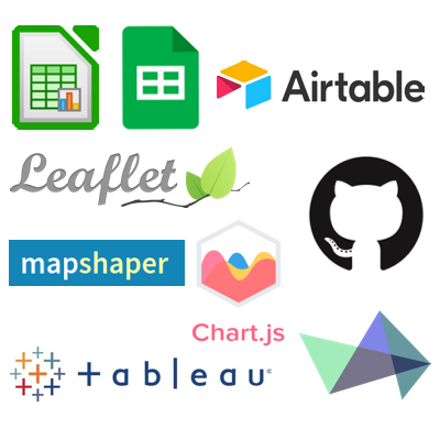 Some of the visualization tools introduced in Hands-On Data Visualization